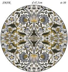 Эскиз для росписи, Круг диаметр-47,5см, SMAR-st-30