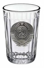 Граненый стакан «Советский» с барельефом «Герб СССР», фото 2