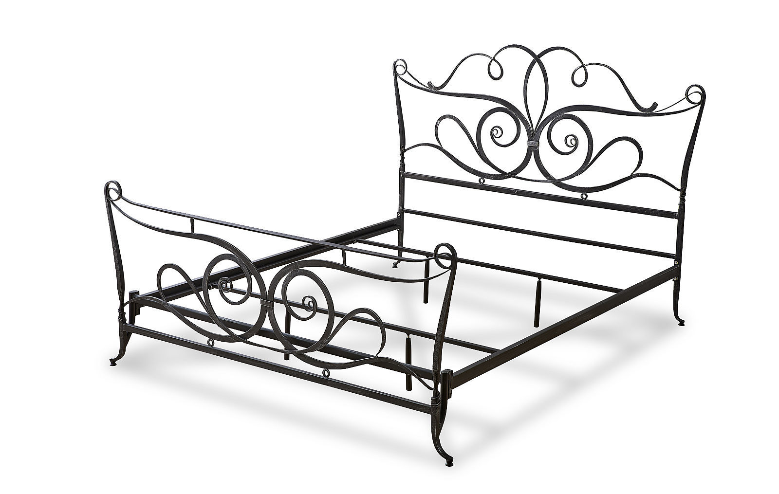 Кованая кровать TDF0817 TD04 черная с серым