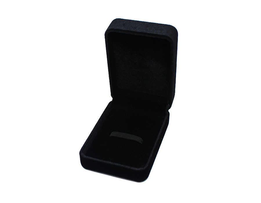 коробочка бархатная черная big оптом