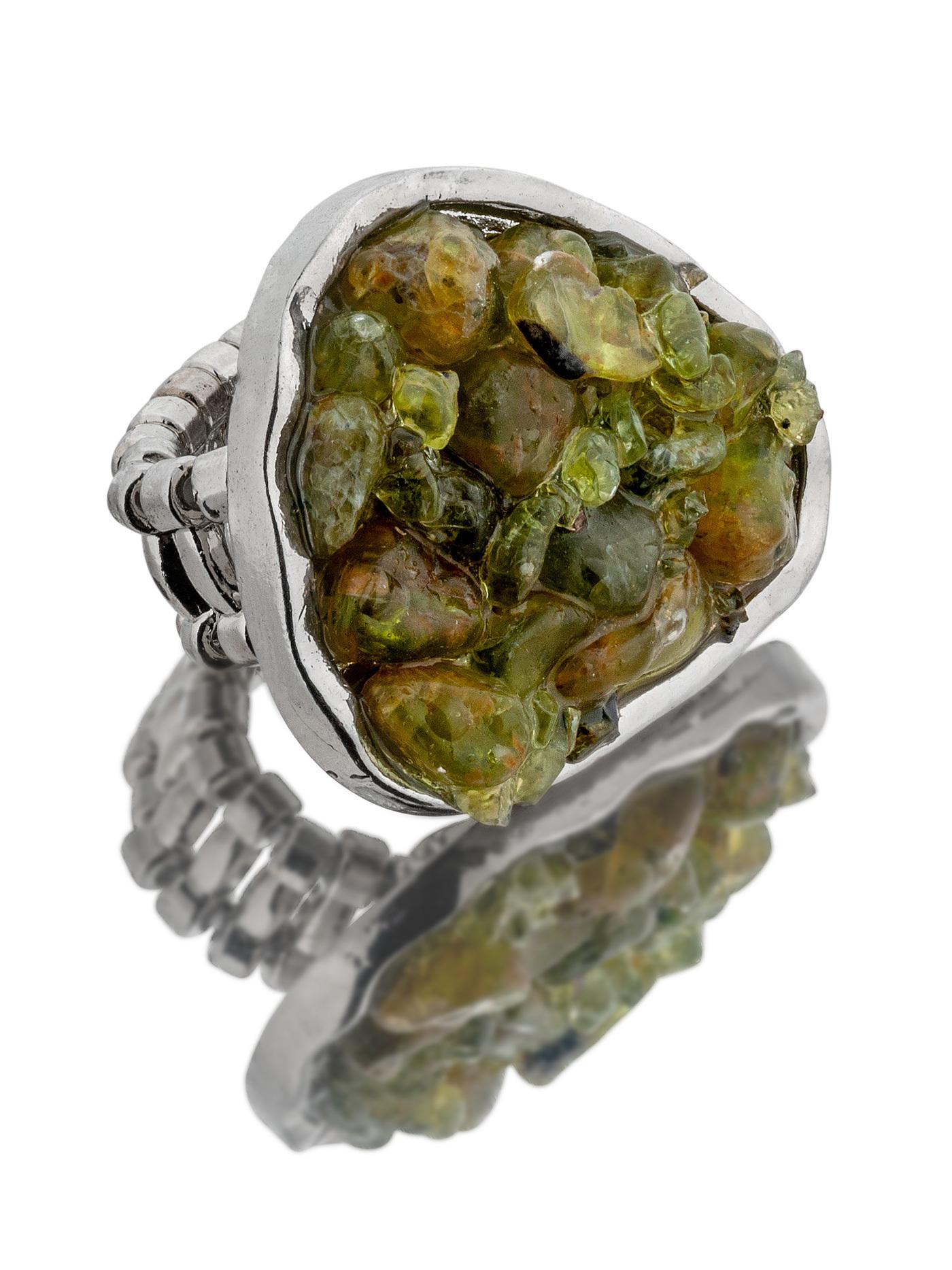 Кольцо Тенерифе с оливином