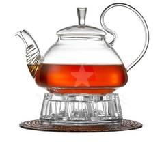 Заварочный чайник с подогревом от свечи, 1200 мл