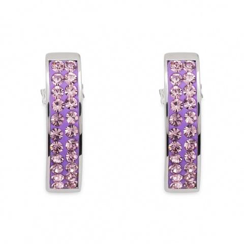 Серьги Coeur de Lion 0114/21-0826 цвет фиолетовый, серебряный