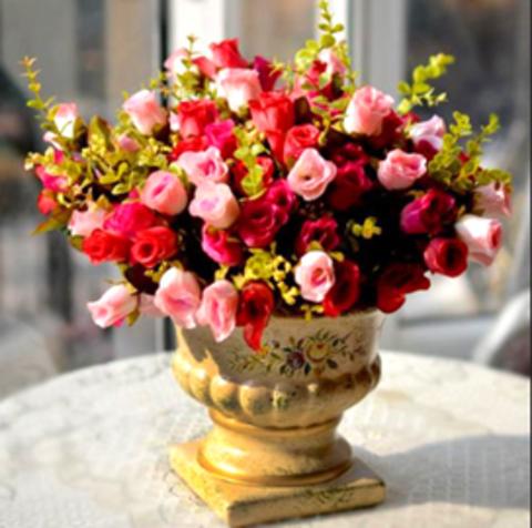 Алмазная Мозаика 20x30 Маленький букет красных и розовых роз