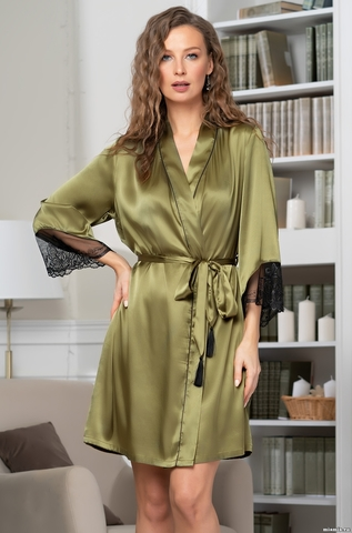 Шелковый халат Olivia (70% нат.шелк)