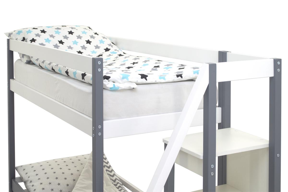 Двухъярусная кровать «Svogen» графит-белый
