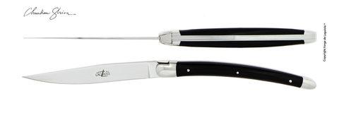 Набор из 2 столовых ножей, Forge de Laguiole, дизайн Christian GHION T2 GHION BN