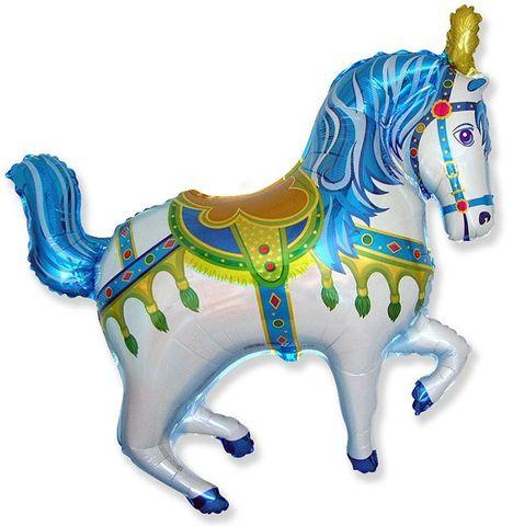 Лошадка синяя