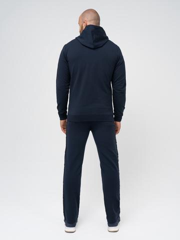 Спортивный костюм «Мастер» синего цвета. Лёгкий футер.