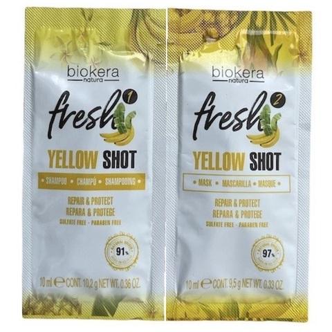 Yellow Shot Biokera Fresh Salerm (шампунь и маска)