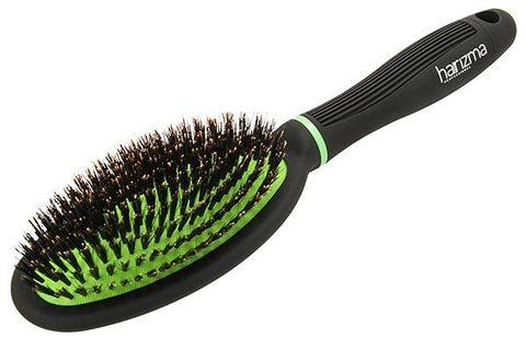 Щётка овальная Harizma ECO brush с натуральной щетиной
