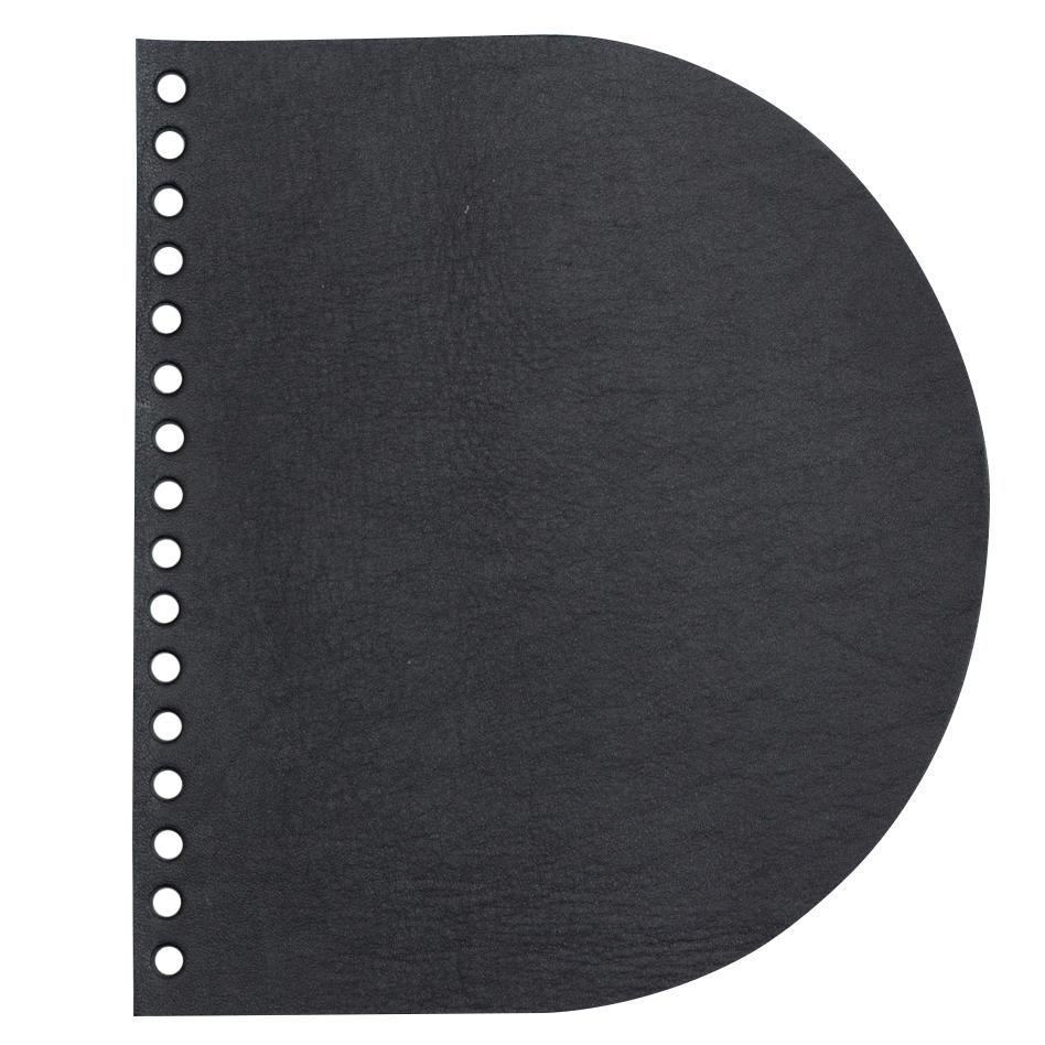 Кожаная фурнитура Клапан для сумочки кожаный черный матовый IMG_9313.jpg