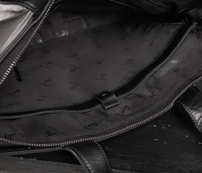 BAG486-1 Деловая кожаная мужская сумка с ремнем на плечо фото 09