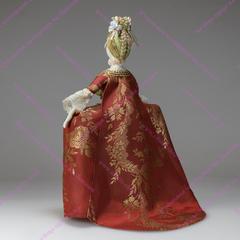 Сувенирная кукла в платье со складками Ватто