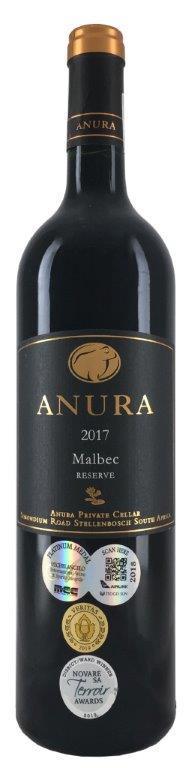 Вино Анура Мальбек Резерв сухое красное з.г.у. регион Симонсберг-Паарл 0,75л.