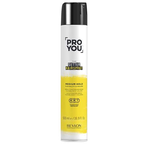 REVLON ProYou Setter Styling: Лак для волос средней фиксации (Hairspray Medium Hold flexibility & volume), 500мл