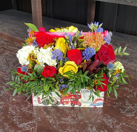 Ящик с цветами Цветной 3