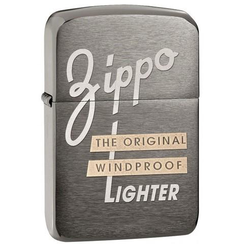 Зажигалка Zippo Original, латунь с покрытием 1941 Replica Black Ice, серый, матовая, 36х12x56 мм