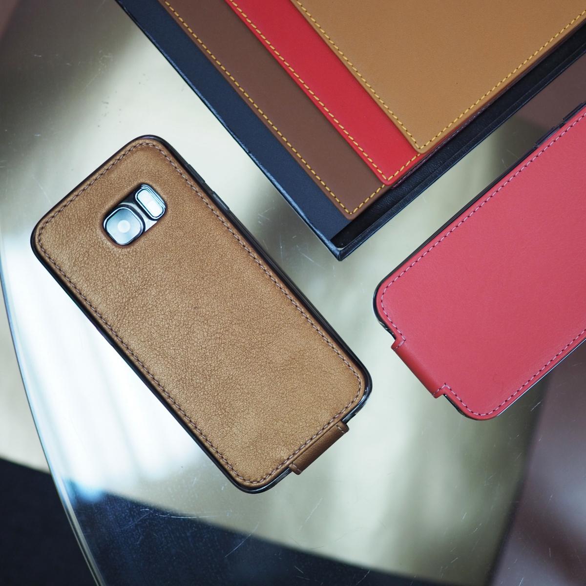 Чехол для Samsung Galaxy S7 из натуральной кожи теленка, медного цвета