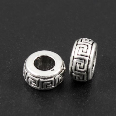 Рондель разделитель Греческий 7 х 3,5 мм серебро 925