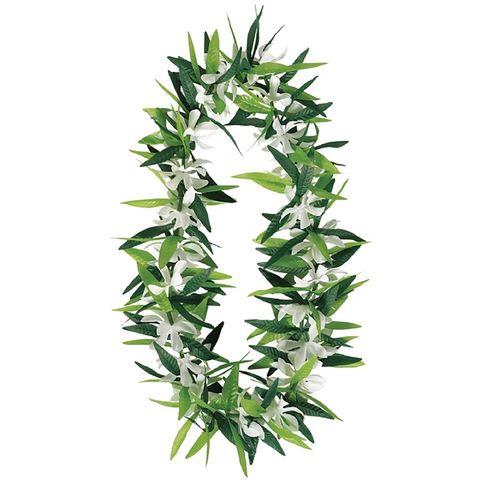Гавайи Листья зеленые с цветами 101см/A