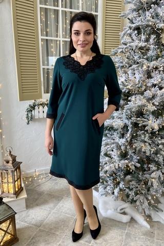 Марселина. Элегантное женское платье. Изумруд