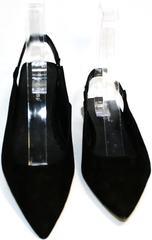 Босоножки с закрытым носком и открытой пяткой Kluchini 5183 Black.