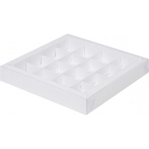 Коробка для конфет (на 16 шт) (белая)