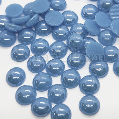 Купить оптом термоклеевой керамический полужемчуг голубой Blue