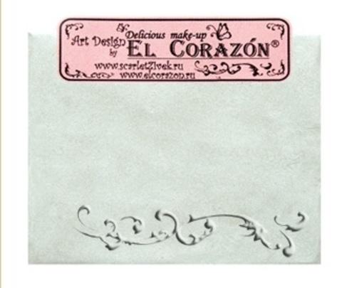 Эль Коразон Перламутр  p-14 белый с зелёным отливом