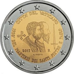 2 евро Ватикан в буклете