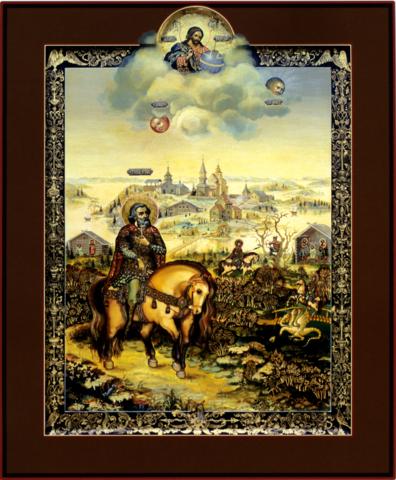 Икона святой Илья Муромец Печерский на дереве на левкасе мастерская Иконный Дом