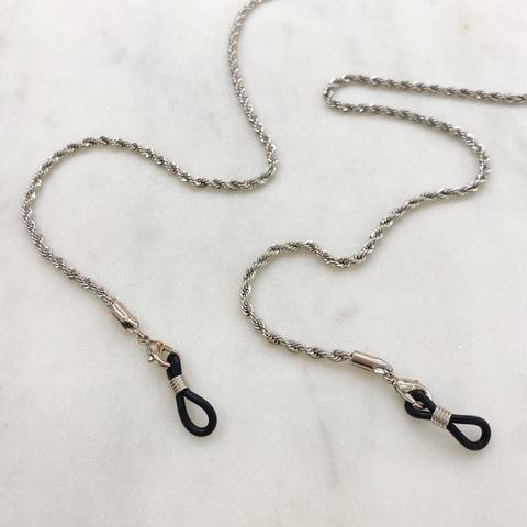 Цепь для очков веревочного плетения (серебристый)