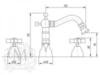 Смеситель для биде на 3 отв. Migliore Princeton ML.PRN-825 схема