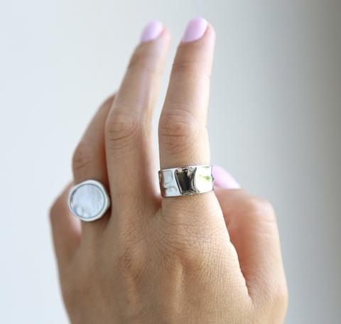 Сет из 2х безразмерных колец ( кольцо из