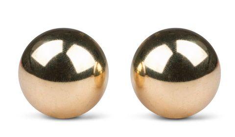 Золотистые вагинальные шарики без сцепки Ben Wa Balls