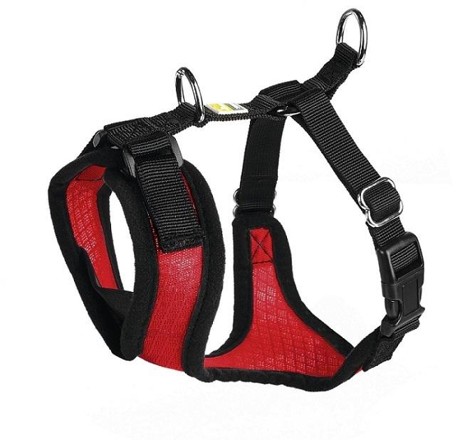 Шлейки Шлейка для собак Hunter Manoa S (38-47 см) нейлон/сетчатый текстиль красный 92726.jpg