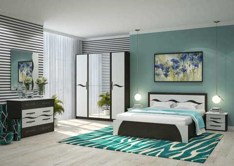 Спальня Валенсия-2 Горизонт венге, арктик