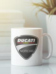 Кружка с рисунком Ducati (Дукати) белая 006
