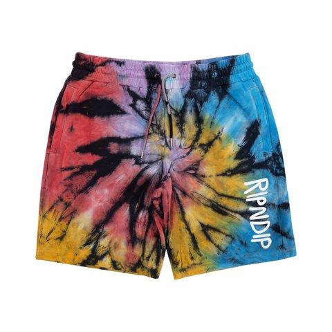 Шорты Ripndip Rubber Logo Sweatshorts Sunburst Spiral Tie Dye
