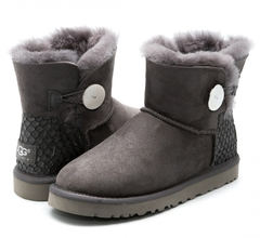 UGG Mini Bailey Button Perla Grey