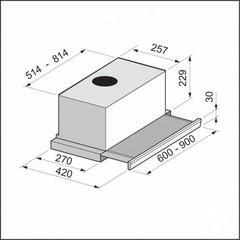 Вытяжка Korting KHP 6712 X схема