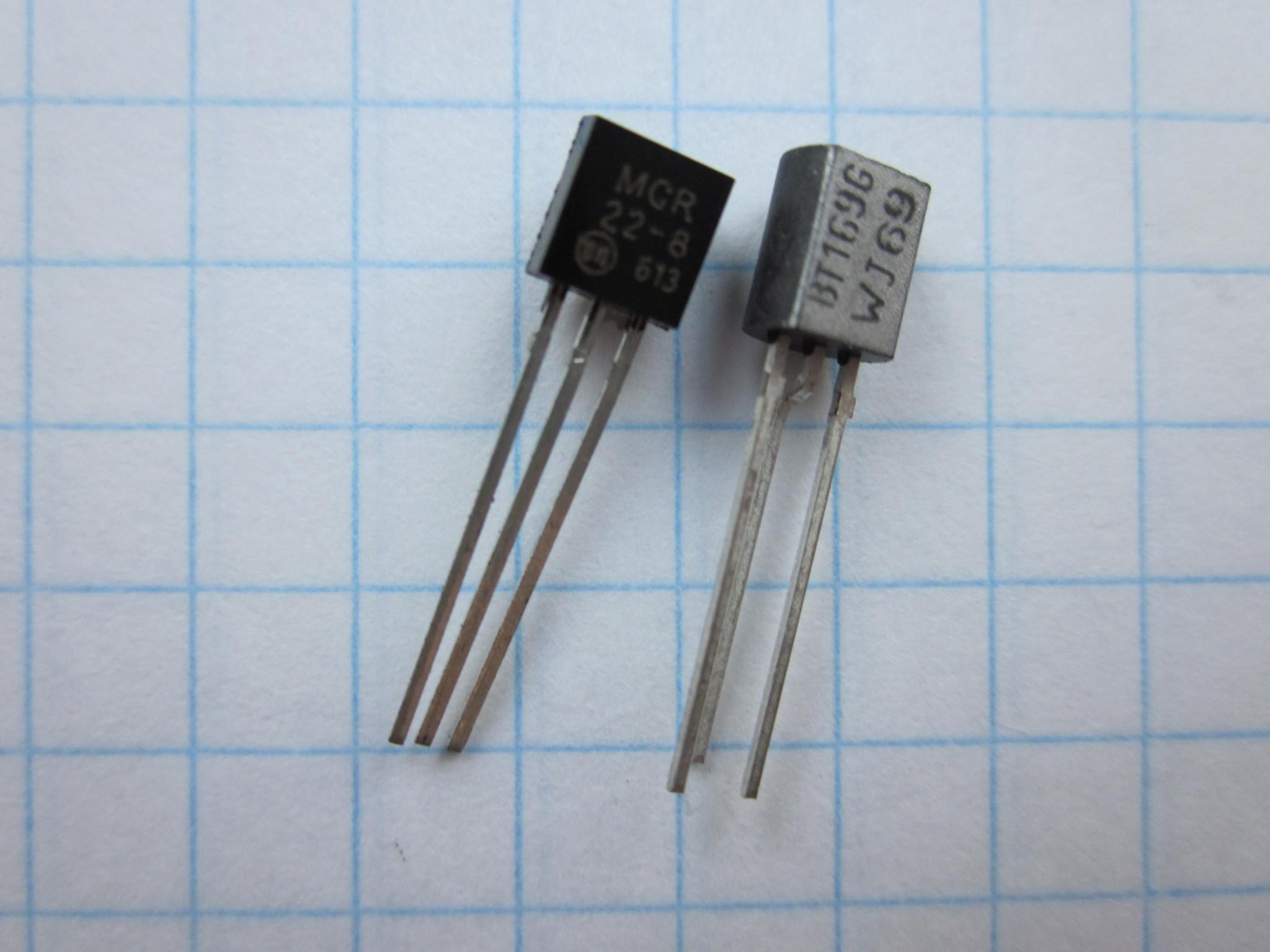 MCR22-8 аналог BT169G