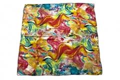 Итальянский платок из шелка цветной 0301