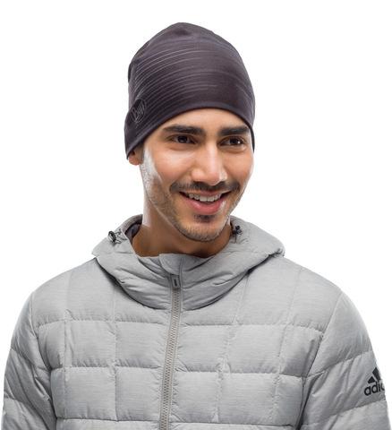 Тонкая теплая спортивная шапка Buff Hat Thermonet Refik Black фото 2