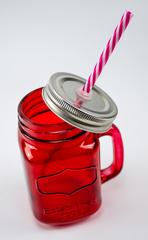 Баночка для смузи и коктейлей, красная, фото 2