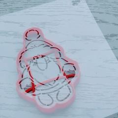 Трафарет Сказочный Дед Мороз форма для пряника, мастики, печенья