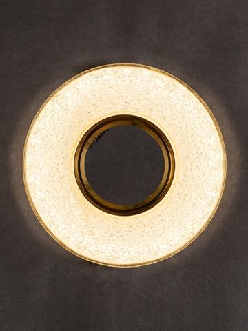 Встраиваемый Светильник GP-8121-9W-CH+Диодная подсветка Хром