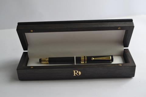Ручка перьевая из мореного дуба №23