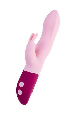 Розовый вибратор-кролик Hello Rabbit - 24,5 см.
